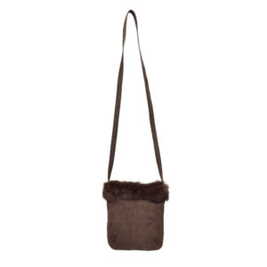 Small Fur Suede Bag