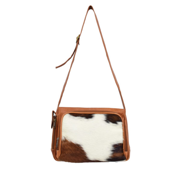 Crossbody Leather Bag with Cowhide