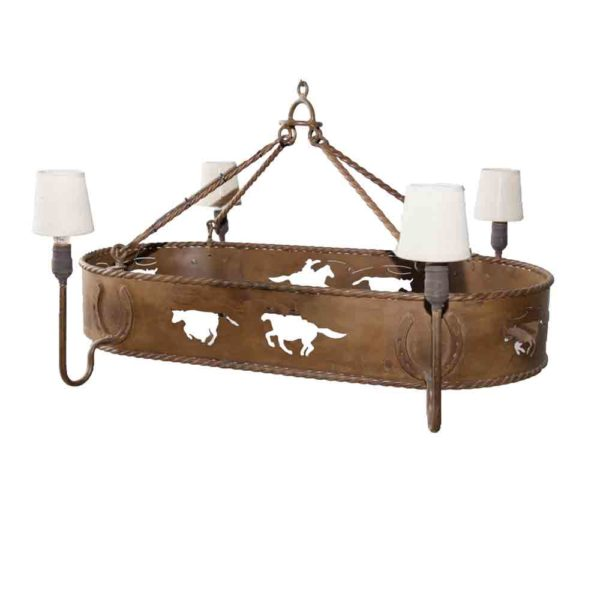 Iron Cowboy Chandelier, western Decor, very unique and high quality piece. Adding wildlife ascent to your home or office.