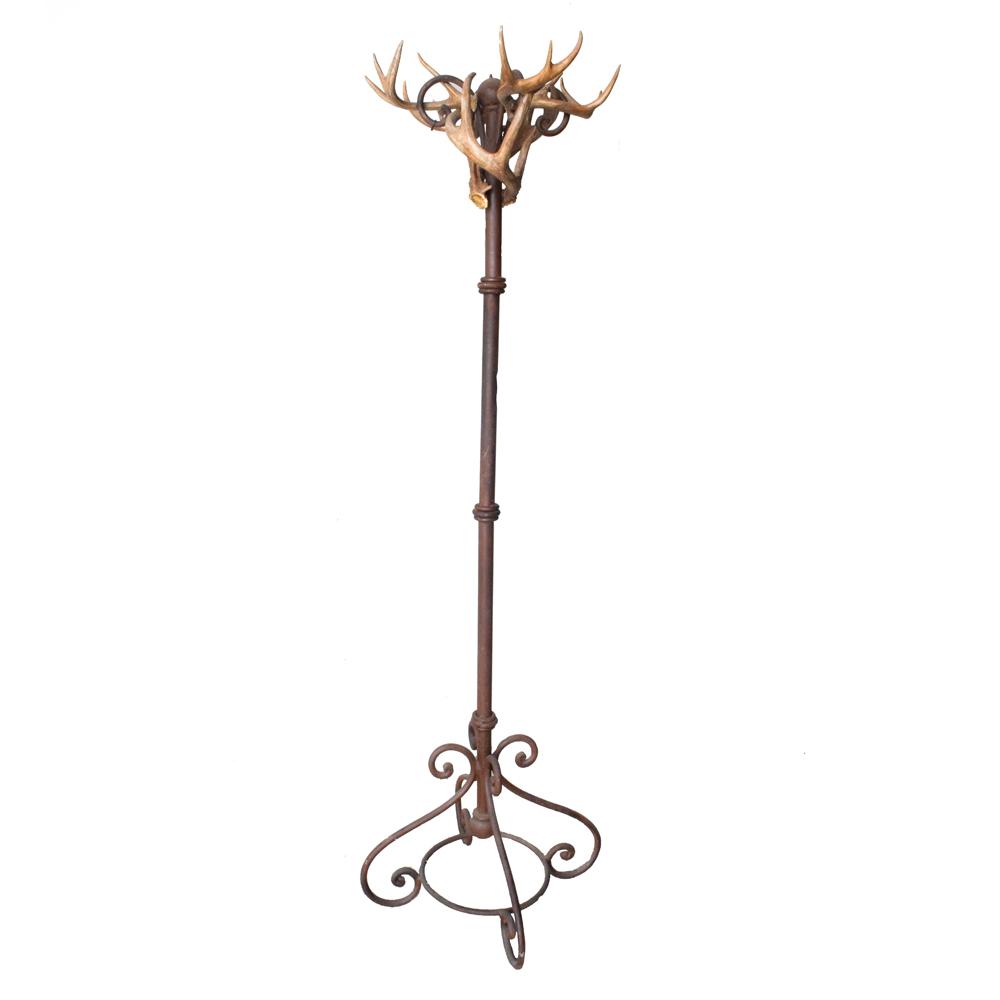 Racks & Hangers-Iron & Whitetail Deer Antler Coat Rack - Art By God ...