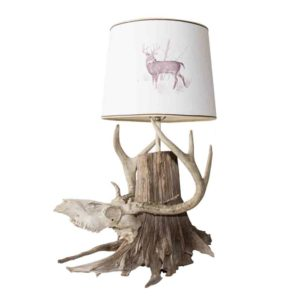 Whitetail Deer Skull Table Lamp