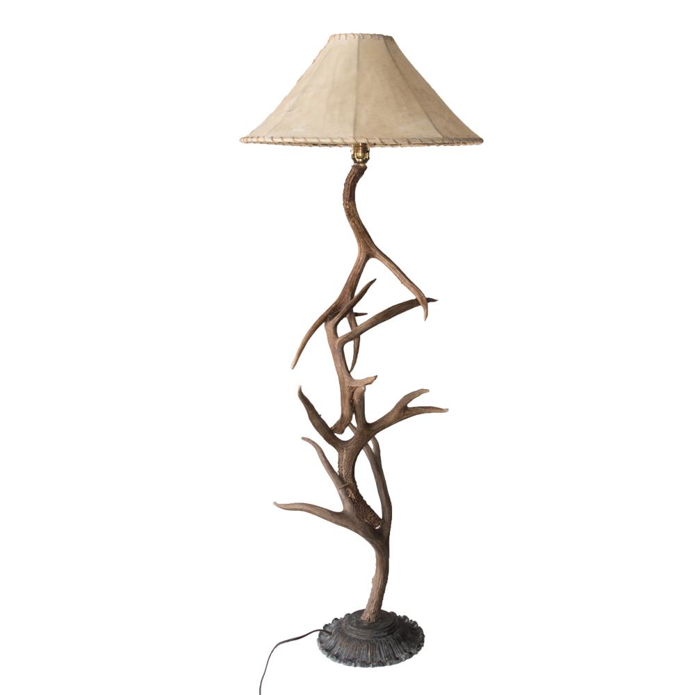 Floor Lamp Mule Deer Antler