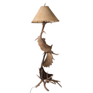 Moose Deer Antler Floor Lamp