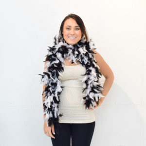 Feather Boa (Black&White)