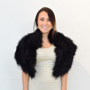 Soft Sheepskin Fur Shawl