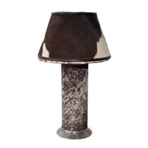 Genuine Cow Hide Table Lamp