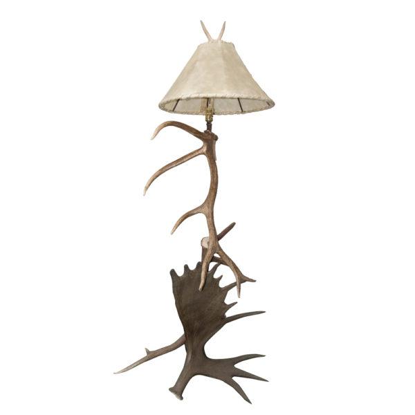 Elk and Moose Floor Lamp