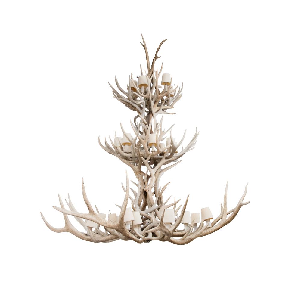 Chandelier - Mule Deer Antler - Art By God Mineral and Nature ...