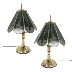 Bighorn Glass Lamp Pair