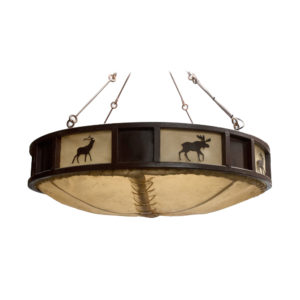 Buffalo Hide Chandelier