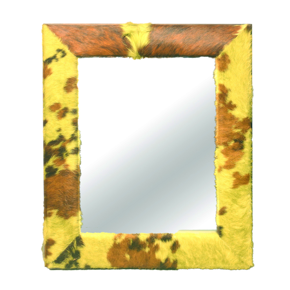 Mirror-Cow Hide Framed Mirror - Art By God Mineral and Nature ...