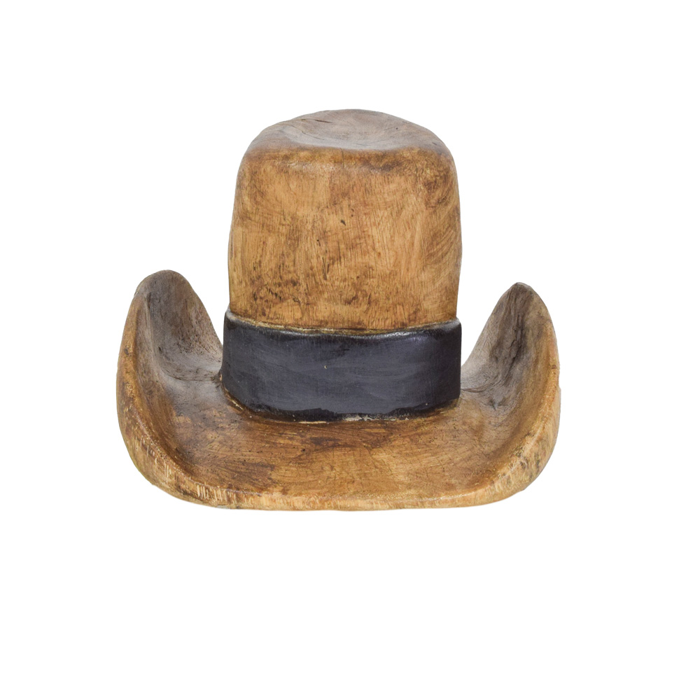 72272ca2f9a Cowboy Hat Wood Sculpture - Art By God Mineral and Nature Novelty ...