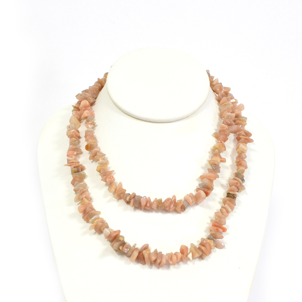 rondelle yellow gold strand toggle graduated sunstone bead oregon product necklace
