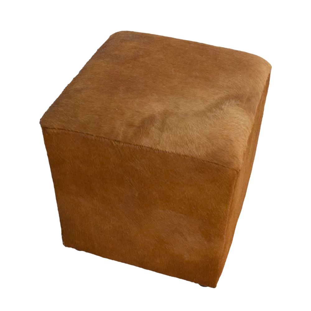 Terrific Cowhide Cube Ottoman Andrewgaddart Wooden Chair Designs For Living Room Andrewgaddartcom
