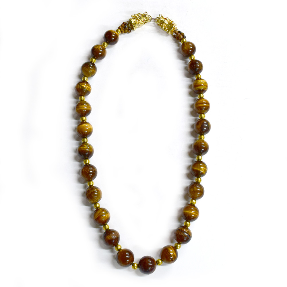 golden gemsmore eye long inches tiger necklace spo round natural beads products