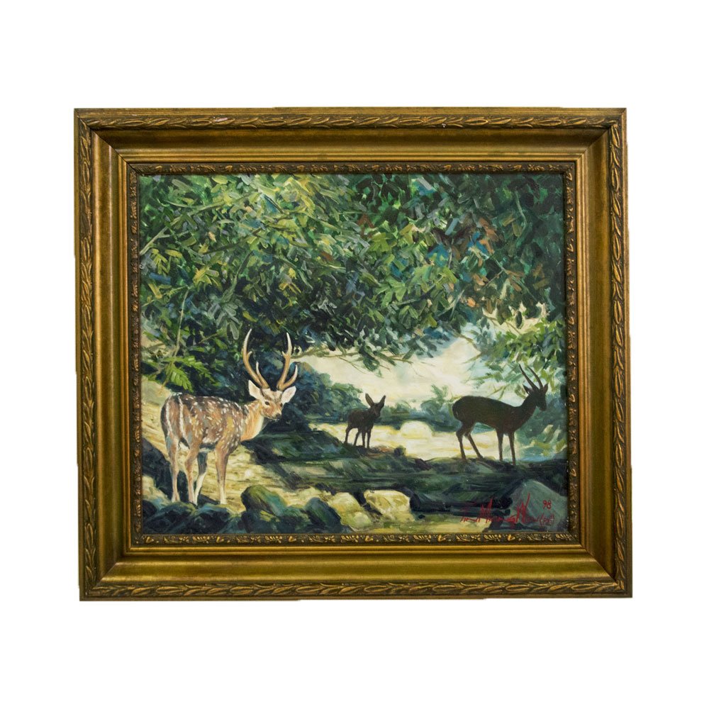 Axis Deer Art By God Mineral And Nature Novelty Gift Shop